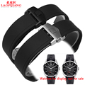 Laopijiang Watch accessories men silicone watch band for super chain folded 22mm Carroll