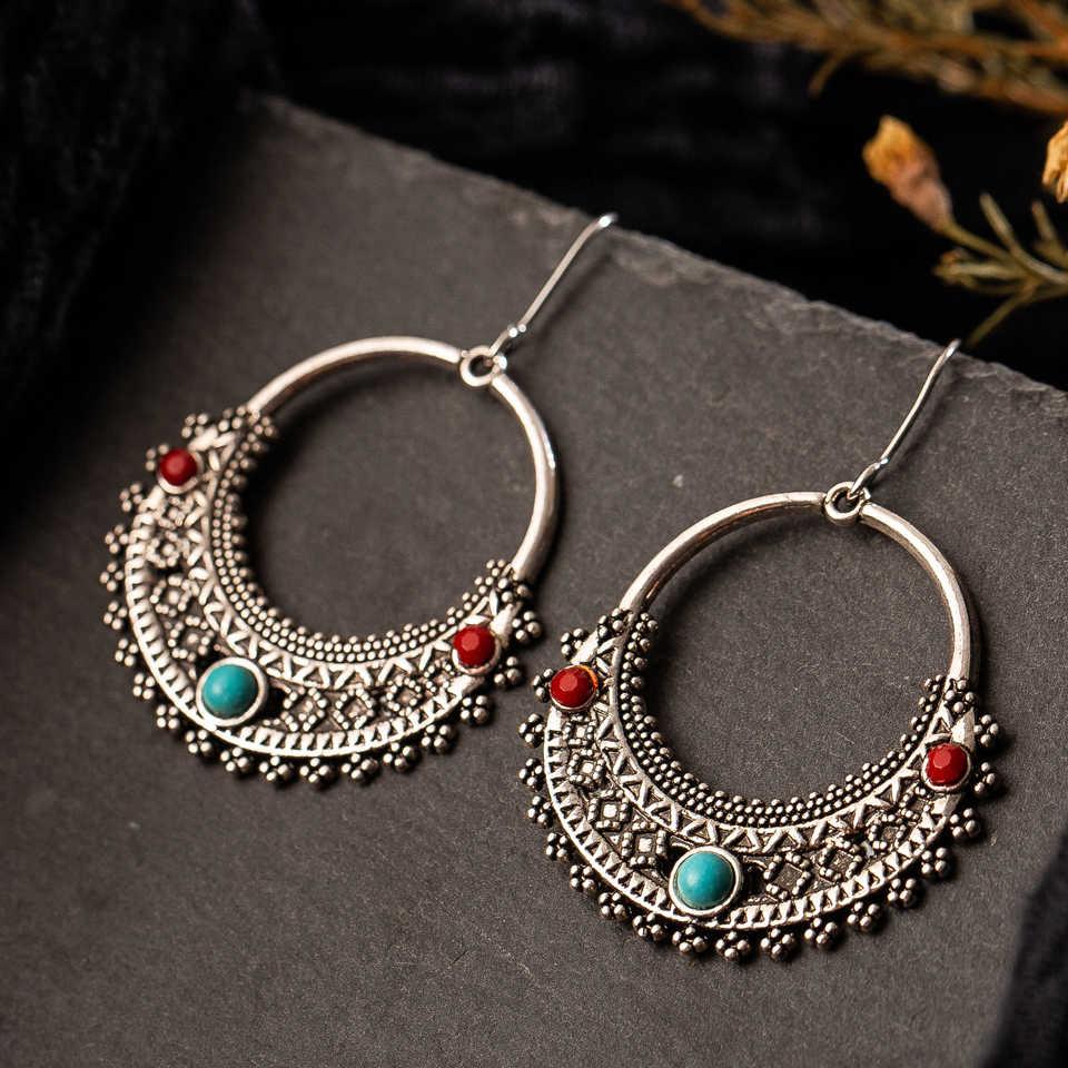 Mehrere Vintage Ethnische Baumeln Ohrringe für Frauen Weibliche Jahrestag Braut Party Hochzeit Schmuck Ornamente Zubehör