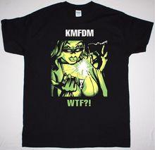 28277af8b KMFDM WTF hombres negro T camisa INDUSTRIAL MDFMK SKINNY PUPPY frente  Asamblea 100% Camiseta de