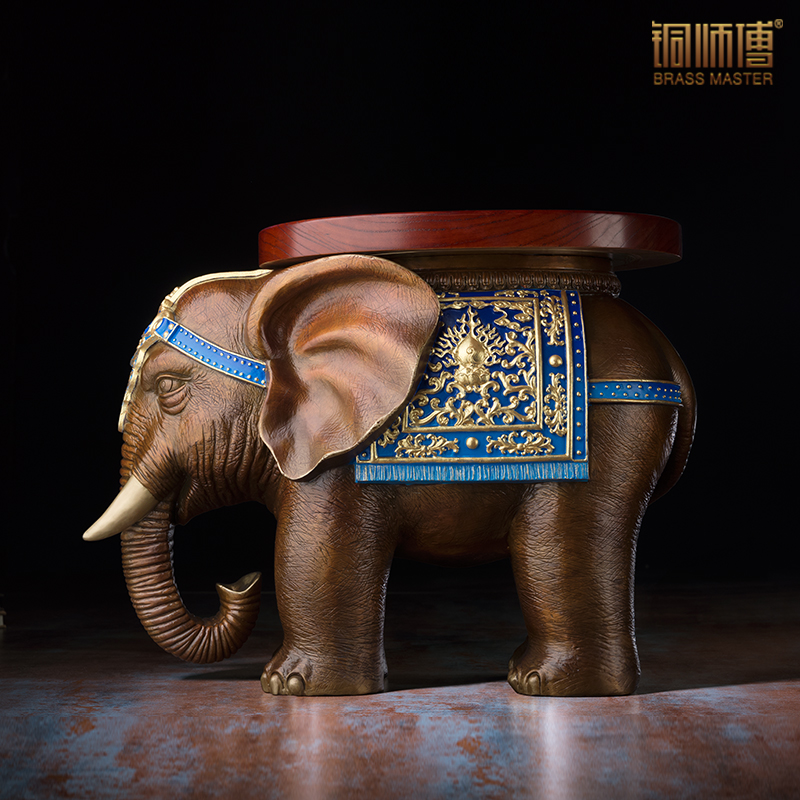 The Lucky Elephant To Change The Shoe Stool in Southeast Asia Home Noble And Elegant Decorations  Collections Crafts
