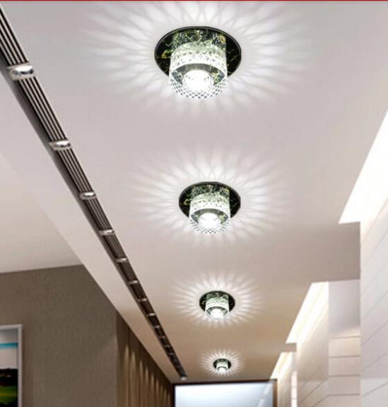 Aliexpress.com : 3 Watt Moderne LED Deckenstrahler Kristall Balkon ...
