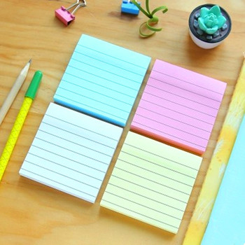 Mirui Stationery cute Stationery Brief cowhide small memo pad square N times stickers point marker sticky line paper 80 sheets image