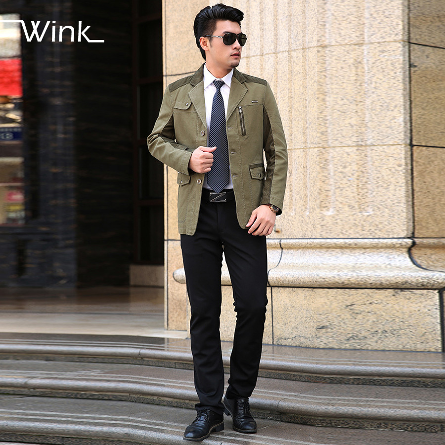 Men Business Blazer Suit High Quality Slim Fit Cotton Fashion Suit Jackets Brand Design Solid Color Jackets SL-E255