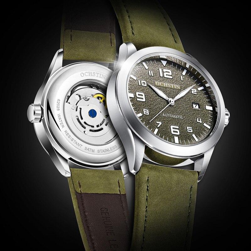 OCHSTIN di Lusso di Modo di Marca di Sport Orologi Meccanici Cinturino In Pelle orologi Automatici degli uomini Horloges Mannen reloj hombre
