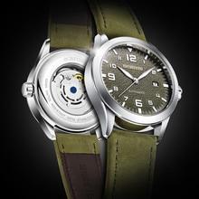 OCHSTIN relojes mecánicos deportivos para hombre, cronógrafos automáticos con correa de cuero