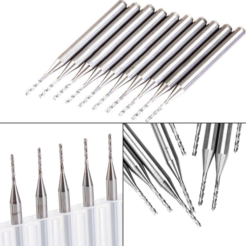 10pcs End Mill Straight Shank Cutter CNC PCB Engraving Milling Tools Mill Tool 1x3.1x8mm 10pcs box 1 8 inch 0 8 3 17mm cemented carbide milling cutter engraving cutter rotary cnc end mill machine accessories