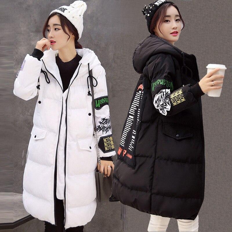 Abajo Para Zy1741 Abrigos Femme Invierno gris Impresión Parka Mujer Ropa Nueva Negro Larga Niza Chaquetas Superior Algodón De Y Hacia blanco 5HwxTqO0x