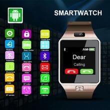 Продажа Смарт-часы DZ 09 смарт часы Носимых устройств Мужчины часы мужские наручные Bluetooth Камера наручные SIM карты часы телефонPK A1 DZ09 GT08 умные часы