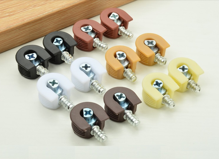 100PCS/LOT Premintehdw Cam Lock Furniture Kitchen Cabinet Shelf Support Holder Bracket Studs Pin shelf  Rafix style
