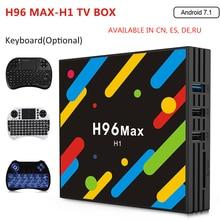 H96 MAX H1 Android 7.1 TV Box 4GB RAM 32GB ROM Set Top Box RK3328 2.4G/5G Wifi Bluetooth 4.0 4K H.265 Media Player pk h96 pro