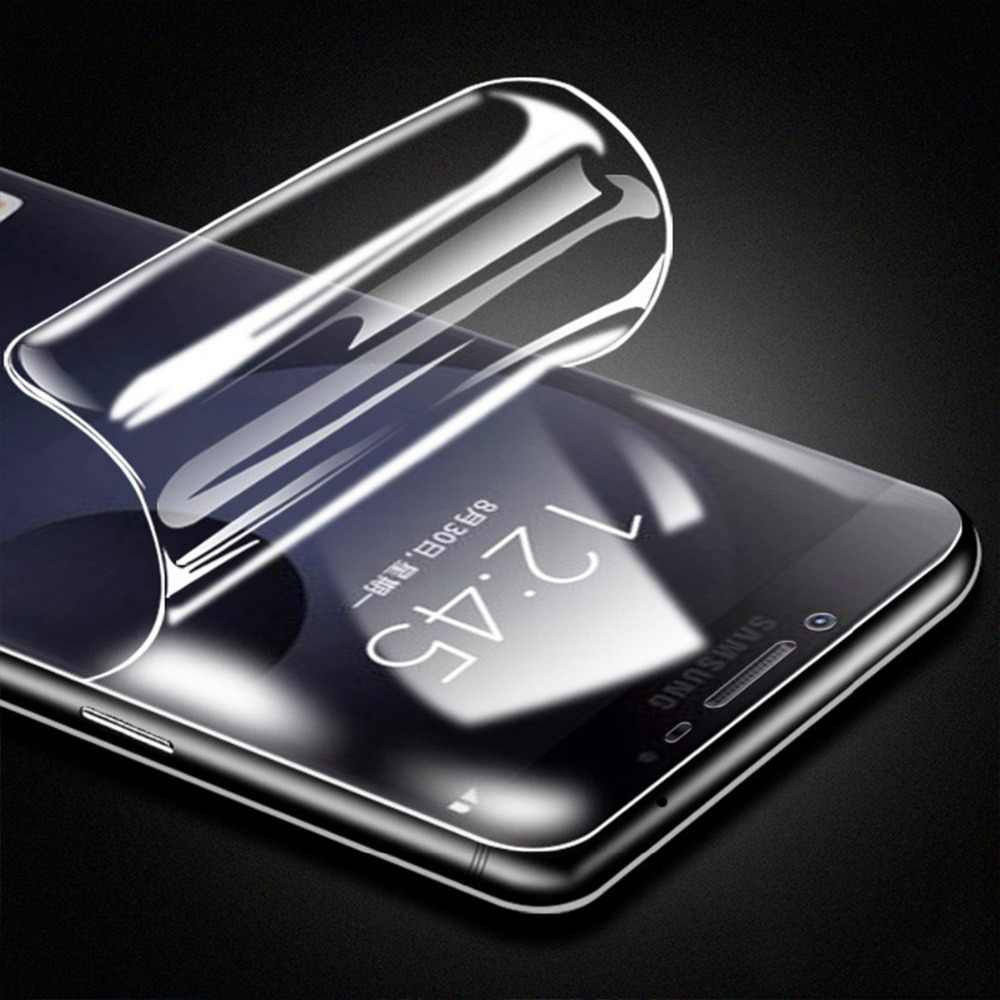 واقي للشاشة الهيدروجيل الناعم ثلاثي الأبعاد لهاتف سامسونج جالاكسي J2 كور J7 Prime C7 C9 Pro A8S A6S A9 A9S A40 A50 طبقة رقيقة واقية أمامية