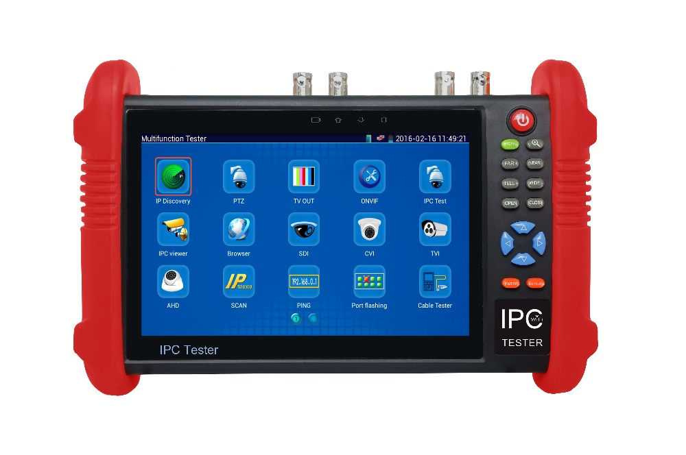 7inch IPC9800ADHS hot sale Touch Screen CCTV Analogy Video HD1080P IP Camera Wifi Tester POE UTP 2017 new hot sale 7inch cctv tester for ipc 9800 movtadhs plus