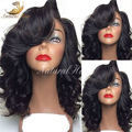 100% Natural Wave Brazilian Virgin Hair Lace Front Wigs Short Bob Human Hair Full Lace Human Hair Wigs For Black Women
