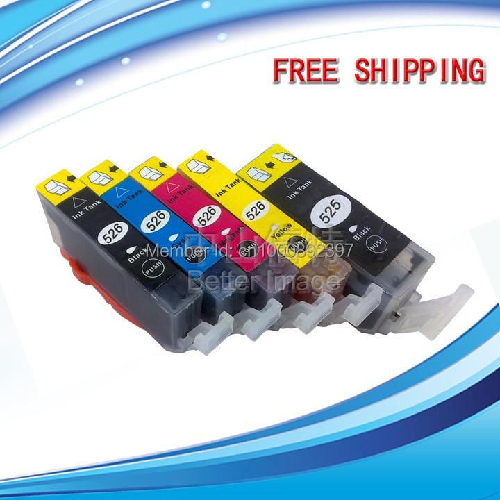 25 SÄTZE Kompatibel tintenpatrone PGI-525 CLI-526 für MG5350 MG5250 MG6150 MG8150 MX885...