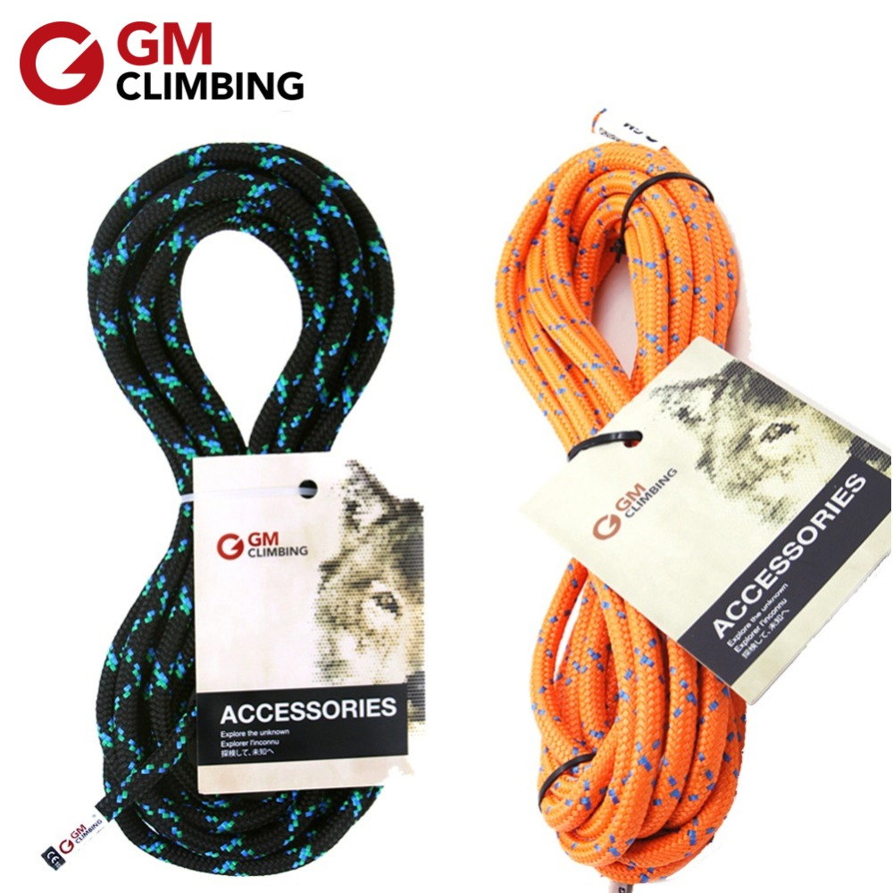GM CLIMBING 8mm CE / UIAA Polyester Accessory Cord Rope 19kN Outdoor Rock Climbing Rescue Mountaineering Equipment