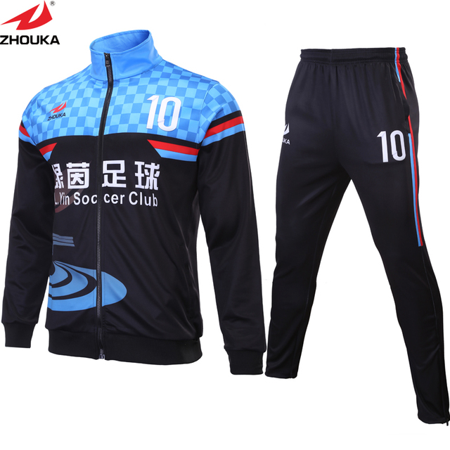 66533ddeb31 Soccer tracksuit design on line sublimation printing create your own  tracksuit Men long sleeve clothing customized for