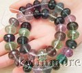 8SE03808 14mm Natural purple fluorite Faceted Rondelle