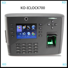 IC CARD 13.56MHZ TCP/IP Linux system 3.5inch 8000 users fingerprint time attendance iclock700 with camera and back up battery