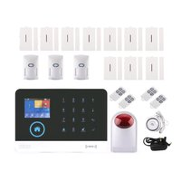 Wi Fi/GSM/3g/GPRS беспроводная домашняя дверь RFID Охранная ЖК сенсорная клавиатура детектор движения GSM сигнализация датчик 433 мГц комплект
