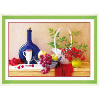 5d Diy Diamond Painting Compote Restaurant And Fruit Diamond Inlaid Living Room Bedroom Adornment To Give