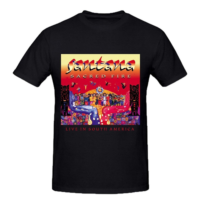 Gildan mode t-shirts santana heiligen feuer leben in südamerika herren t-shirts