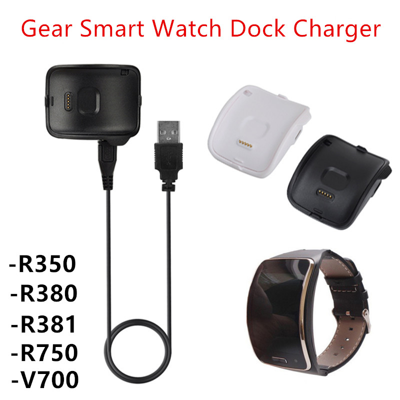 Willensstark Portable Desktop Power Ladestation Dock Ladegerät Halter Kabel + Micro Usb Für Samsung Gear S R750 350 381 V700 Smart Uhr