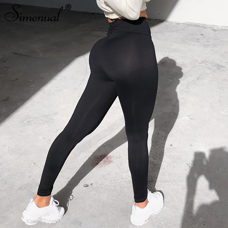 Simenual 2019 women   leggings   high waist fitness push up active wear bodybuilding   leggings   athleisure solid sportswear spring new