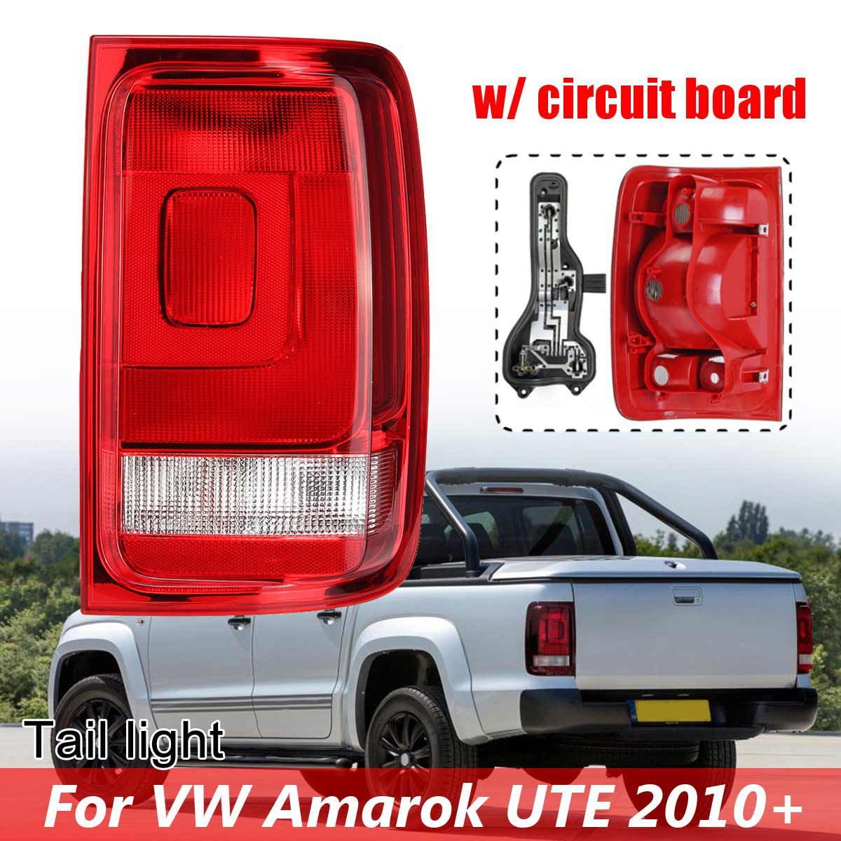 TAILGATE SMOKED Volkswagen CADDY 2015-  REAR LIGHT CLUSTER LENS NEW STYLE