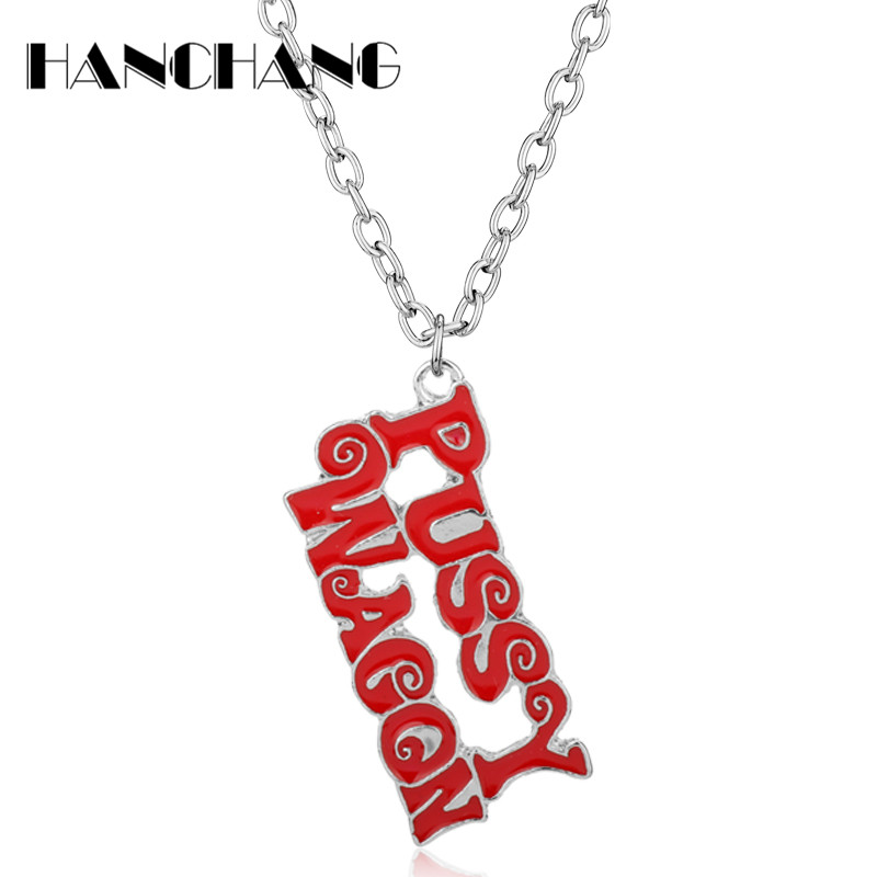 Kill Bill PUSSY WAGON Necklace Songs Letters Pendant Necklace Women Accessories Choker Necklace Jewelry