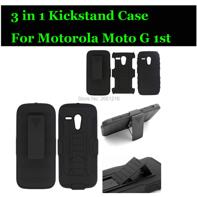 For Moto G 1st Gen Shockproof Future Armor Belt Clip Holster Case With Kickstand Cover For Motorola Moto G XT1032 XT1031 4.5""