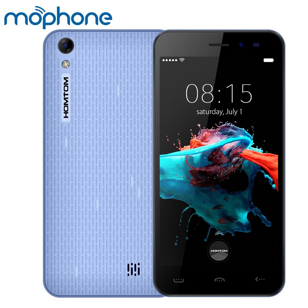 """Цена за Оригинал homtom ht16 смартфон 3 г android 6.0 quad core mtk6580 5.0 """"экран 1 ГБ + 8 ГБ 5MP 8MP Две Камеры Мобильного Телефона"""