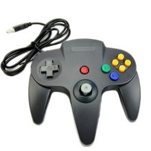 Black Retrolink Wired Classic For Nintendo N64 game USB Controller for PC MAC Computer