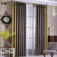 Urijk 1ピース半遮光カーテン無地窓カーテン高級現代スタイルカーテン用リビングルーム高シェード生地