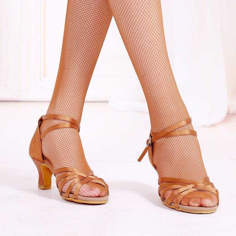 Salsa chaussures de danse latine pour femmes Profession Tango chaussures de salle de bal talons hauts en cuir à semelles souples dame chaussures de danse sandales 5.5 cm