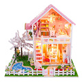 New DIY Wooden Doll House Miniatura Dollhouse Miniature 3D Puzzle For Child Toy Model Kits Birthday Christmas Gift