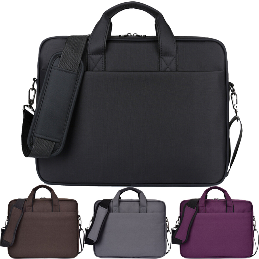 Solid 14 15 15.6 Inch Waterproof Nylon Laptop Notebook Tablet Bag Bags Case Messenger Shoulder for Men Women