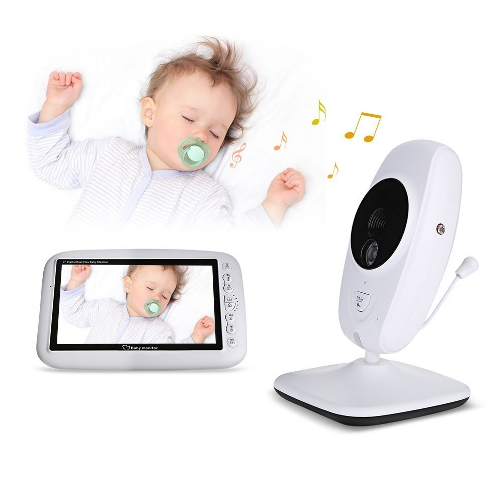 Babykam babyfoon видеокамеры радионяня 7 дюймов ИК ночник видения Домофон Колыбельная Температура Сенсор babyfoon встретился камеры