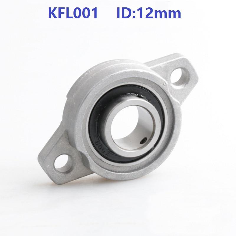 50pcs lot KFL001 12mm Bore Diameter Zinc Alloy Bearing Units 12 mm Flange Pillow Block Bearing