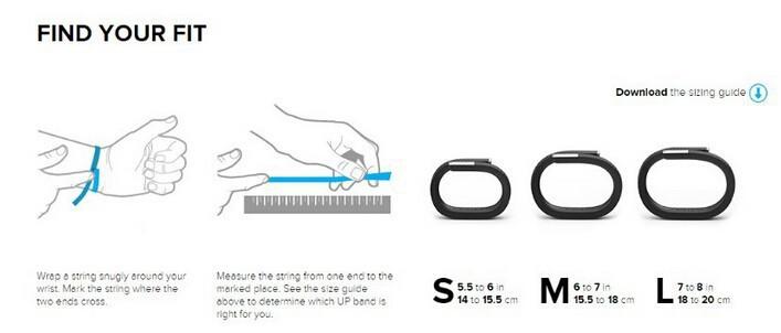 up24 size guide user manual guide u2022 rh alt school life com Jawbone Up 24 Review Fitbit Flex vs Jawbone Up