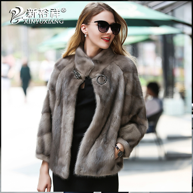 XINYUXIANG 2017 Luxury Real Mink Fur soft Coat women High quality ...