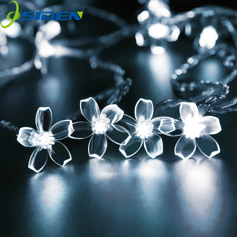 2m 10m 6W 20LED Copper Wire Floral Star Curtain String Light LED Fairy Light For Wedding Christmas Decoration Light Lamp