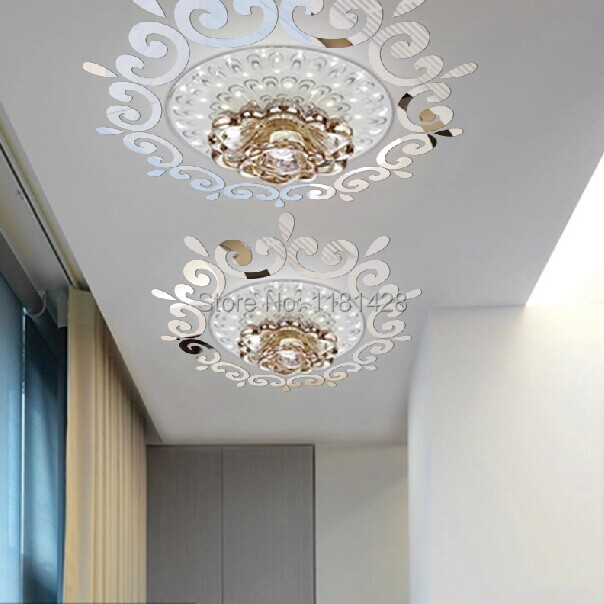 Top Ceilling Mirror Wall Sticker Top Lighting The