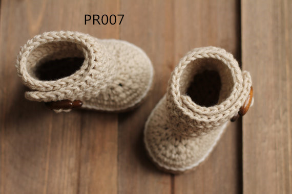 Crochet Baby Booties Crochet Baby Cute Bootie Beige Slipper, Simple Boot