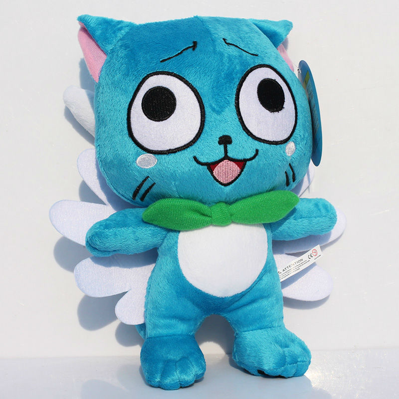 30cm Standing Fairy Tail Cute Happy plush Dolls Stuffed toys 12inch