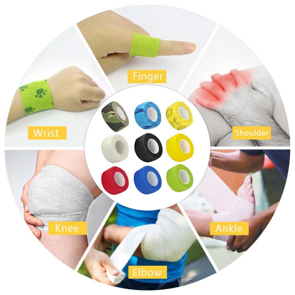 Beauty & Health Helpful 10 Rolls 5*450cm Disposable Self-adhesive Flex Elastic Bandage Tattoo Handle Grip Tube Wrap Elbow Stcik Medical Tape Accessories Highly Polished Tattoo & Body Art