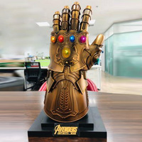 The Avenger 1:1 Scale Thanos Infinity Gauntlet Metal Statue With LED Light Cosplay Accessory Props Birthday Gifts For Kids Men