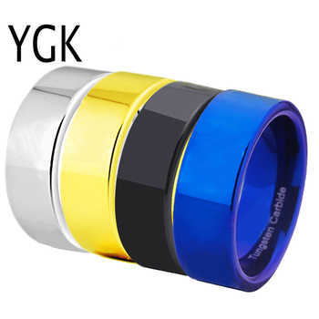 Free Shipping Cheap Price USA Canada UK Russia Brazil Hot Sales 8MM Pipe Cut Black/Silver/Blue/Gold Men's Tungsten Wedding Ring - DISCOUNT ITEM  10% OFF All Category