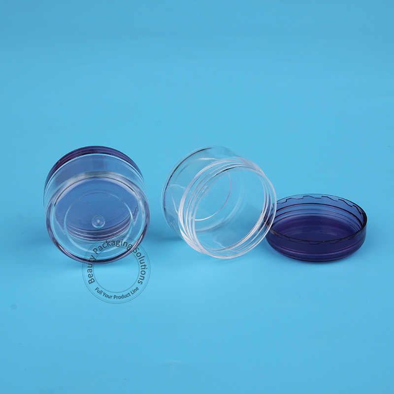 70ชิ้น/ล็อตโปรโมชั่น5กรัมพลาสติกที่ว่างเปล่าขวดครีมบำรุงผิวหน้าสีม่วง1/6ออนซ์หมวกมินิผู้หญิงภาชนะบรรจุเครื่องสำอางรีฟิลตัวอย่างเล็กๆหม้อ