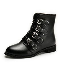 Negro Tachonado Zapatos Compra lotes baratos de Negro