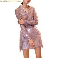 Luoanyfash/комплект из двух предметов с пайетками; Роскошные Рубашки и юбки с жемчугом; женские комплекты; шикарный костюм; праздничные костюмы;